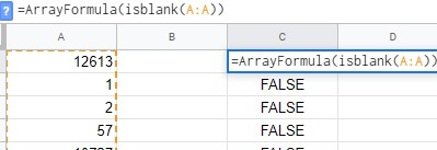 Using ARRAYFORMULA function to test a cell - TeXXic by Transitionyte