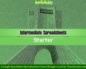 Free Intermediate Spreadsheet Starter Course - TeXXic by Transitionyte.com