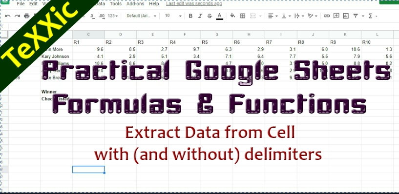 Practical Google Sheets Formulas & Functions: How to Extract Data from a Cell with (and without) delimiters